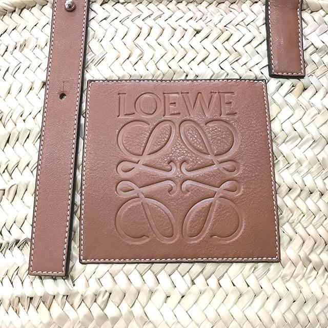 舎人のお客様からロエベのバスケットバッグを買取_04