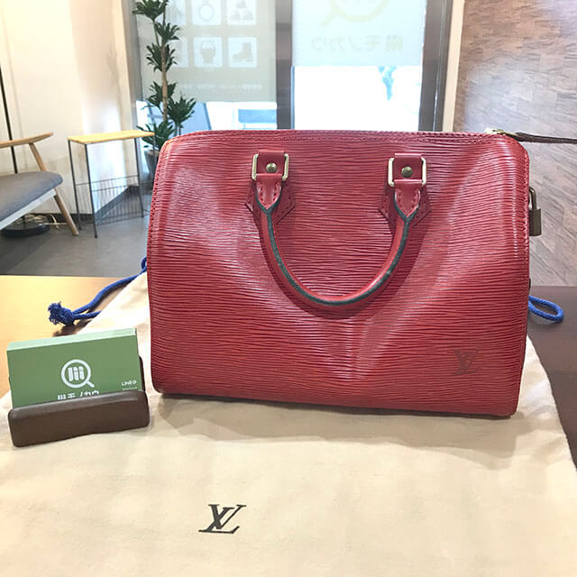 放出のお客様からヴィトンのエピのハンドバッグ【スピーディ25】を買取_01