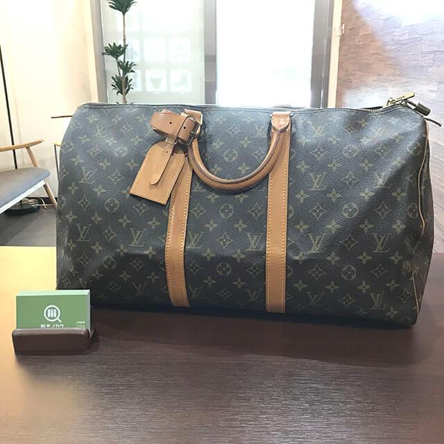 放出のお客様からヴィトンのボストンバッグ【キーポル50】を買取_01