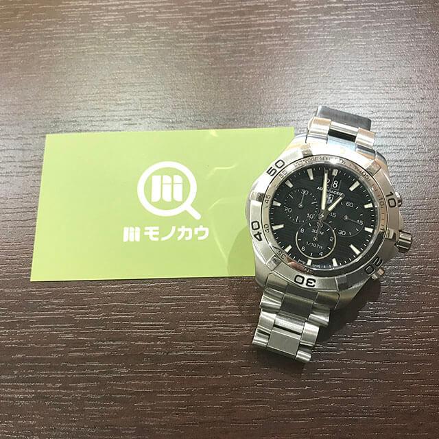 モノカウ北見店にてタグホイヤーの腕時計【アクアレーサー グランドデイト】を買取_01