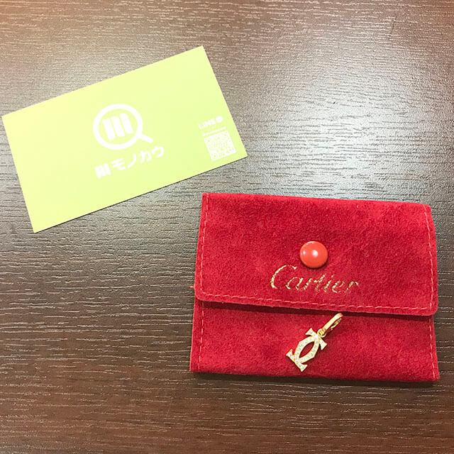 大阪のお客様からカルティエの2Cロゴダイヤネックレストップを買取_01