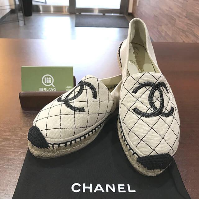 大阪のお客様からシャネルの靴【エスパドリーユ】を買取_01