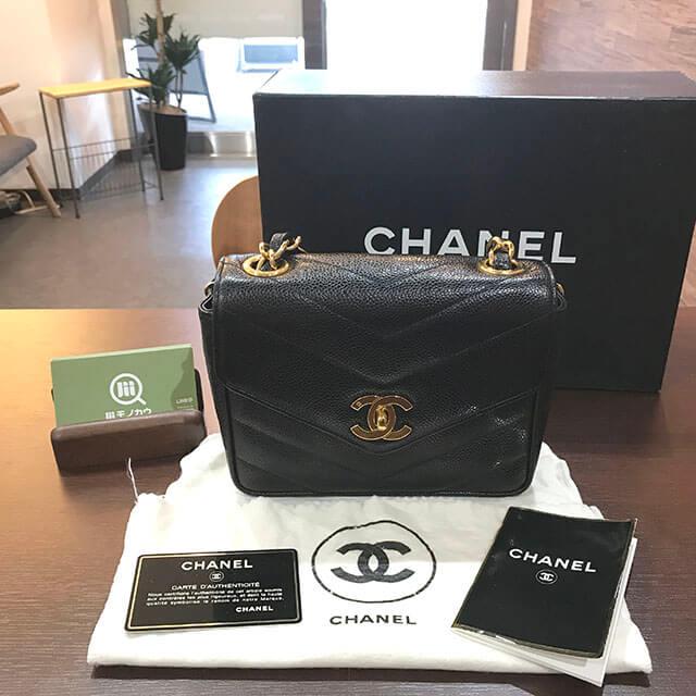 上野のお客様からヴィンテージシャネルの【Vステッチ】チェーンショルダーバッグを買取_01