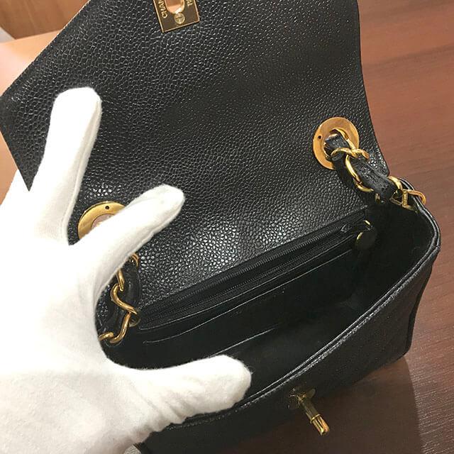 上野のお客様からヴィンテージシャネルの【Vステッチ】チェーンショルダーバッグを買取_03