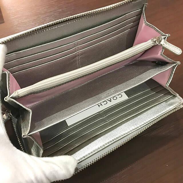 茨木のお客様からコーチのシグネチャー長財布を買取_03