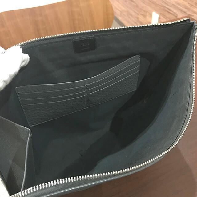 五反田のお客様からフェンディのスタンプロゴクラッチバッグを買取_03