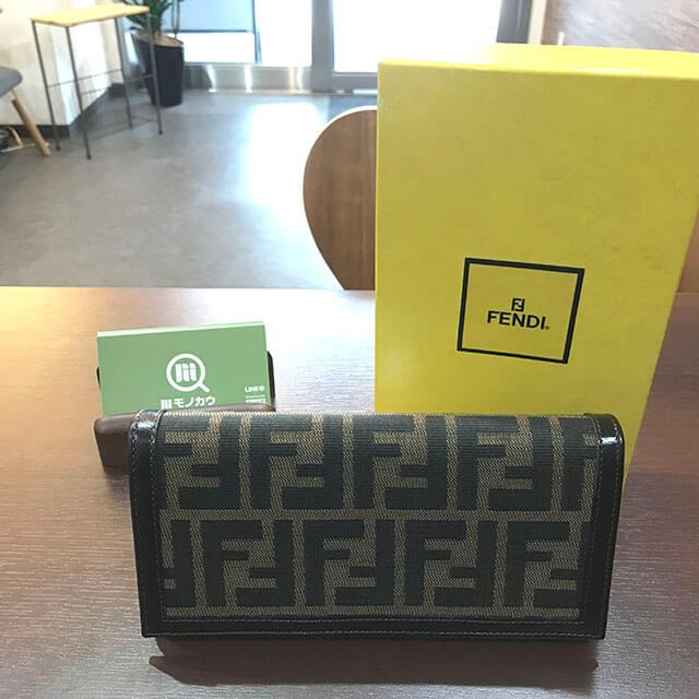 茨木のお客様からフェンディのズッカ柄長財布を買取_01