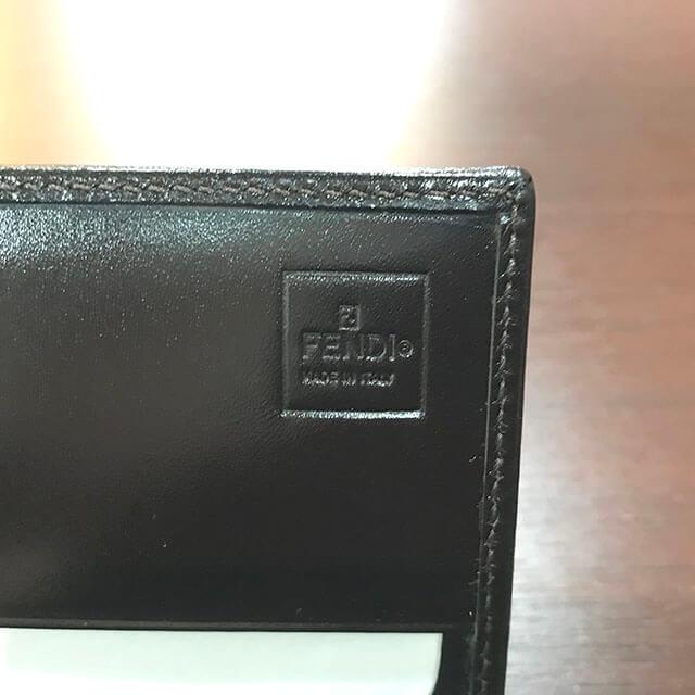 茨木のお客様からフェンディのズッカ柄長財布を買取_04