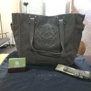 茨木のお客様からロエベのアナグラム2wayバッグを買取