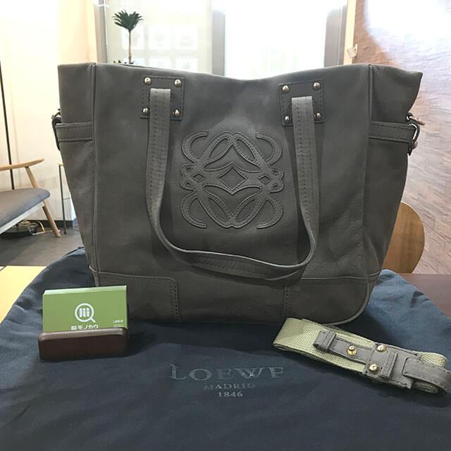 茨木のお客様からロエベのアナグラム2wayバッグを買取_01