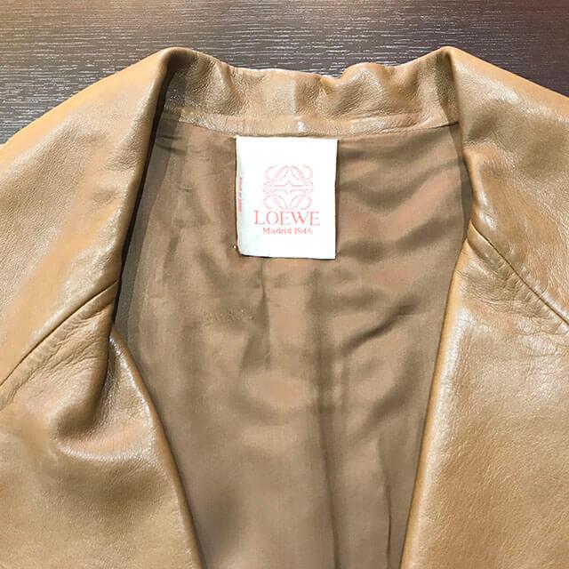 枚方のお客様からロエベのレザージャケットを買取_04