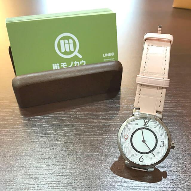 京橋のお客様からヴィトンの腕時計【タンブール スリムPM】を買取_02