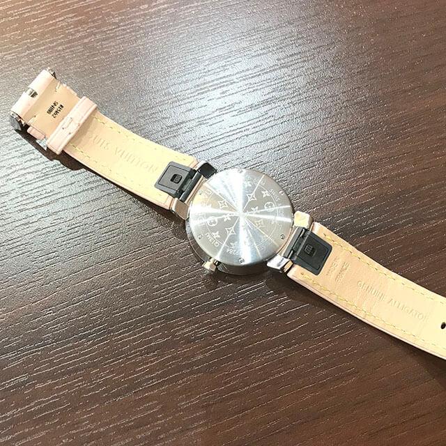 京橋のお客様からヴィトンの腕時計【タンブール スリムPM】を買取_04