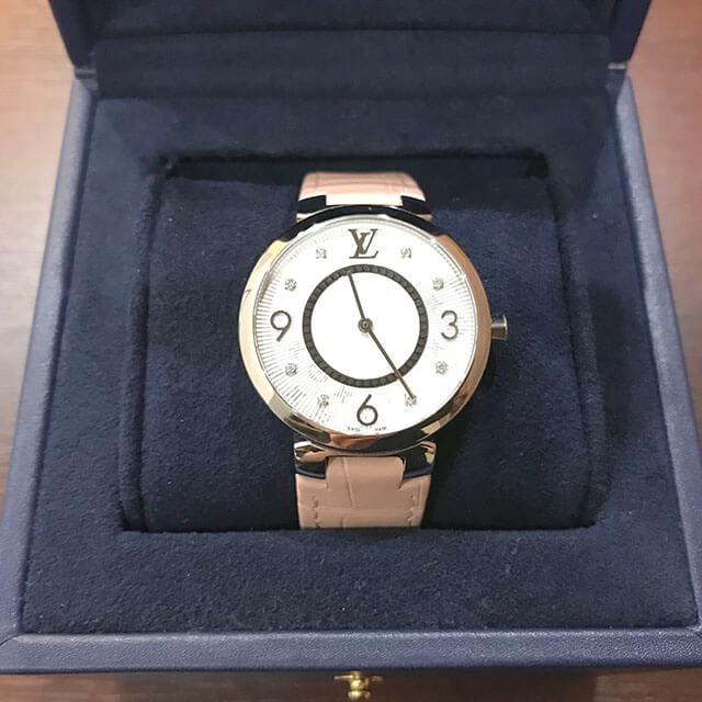 京橋のお客様からヴィトンの腕時計【タンブール スリムPM】を買取_03