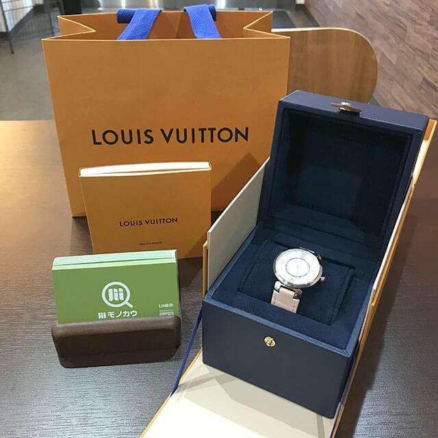 京橋のお客様からヴィトンの腕時計【タンブール スリムPM】を買取_01