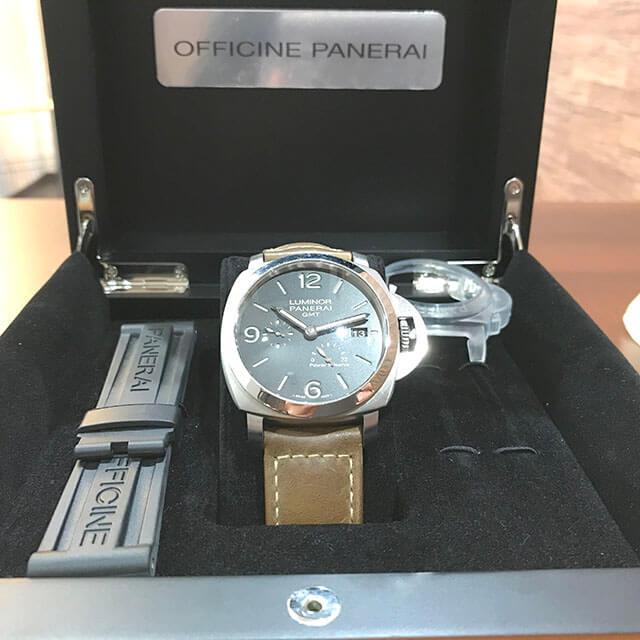 大阪のお客様からパネライの腕時計【ルミノール 1950 3デイズ GMT パワーリザーブ】を買取_04