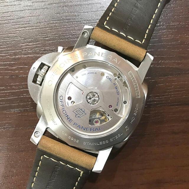 大阪のお客様からパネライの腕時計【ルミノール 1950 3デイズ GMT パワーリザーブ】を買取_03