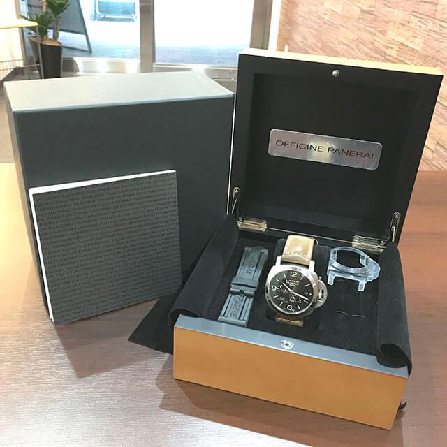大阪のお客様からパネライの腕時計【ルミノール 1950 3デイズ GMT パワーリザーブ】を買取_02