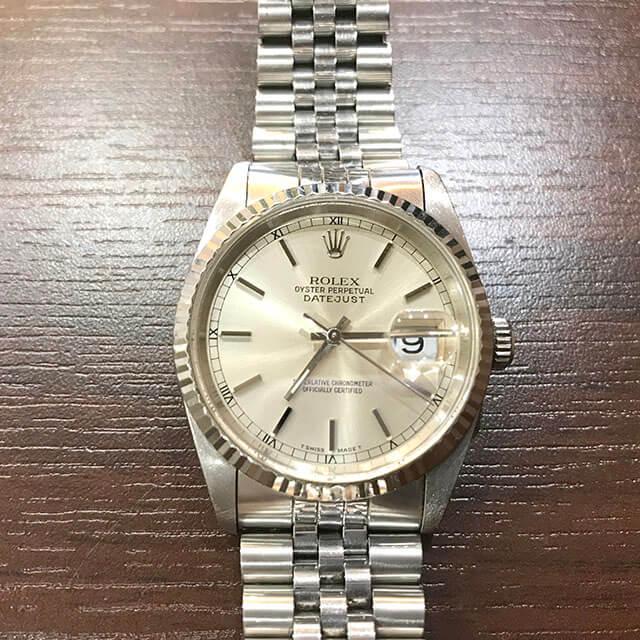 八尾のお客様からロレックスの腕時計【デイトジャスト】を買取_02