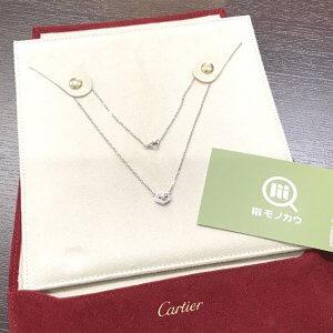 東大阪のお客様からカルティエのCハートフルダイヤネックレスを買取