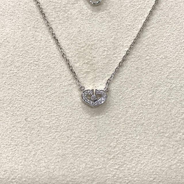 東大阪のお客様からカルティエのCハートフルダイヤネックレスを買取_03