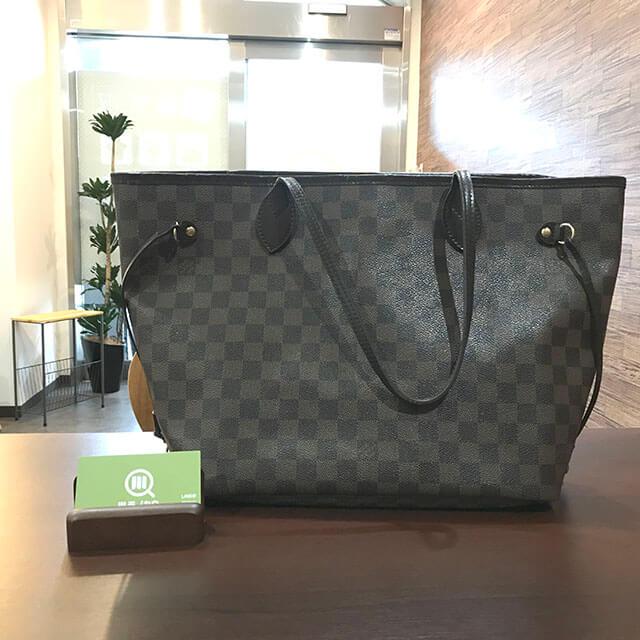 大阪のお客様からヴィトンのダミエトートバッグ【ネヴァーフルMM】を買取_01