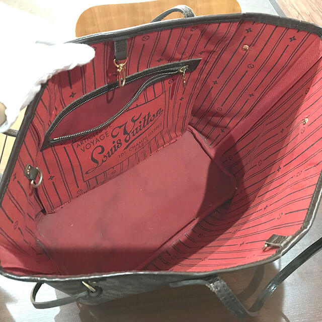大阪のお客様からヴィトンのダミエトートバッグ【ネヴァーフルMM】を買取_04