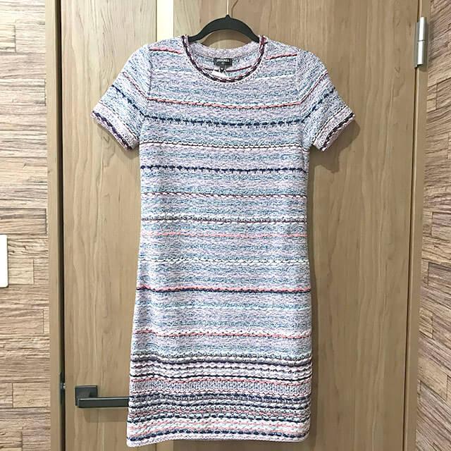 布施のお客様からシャネルの2019年春夏新作のワンピースを買取_01