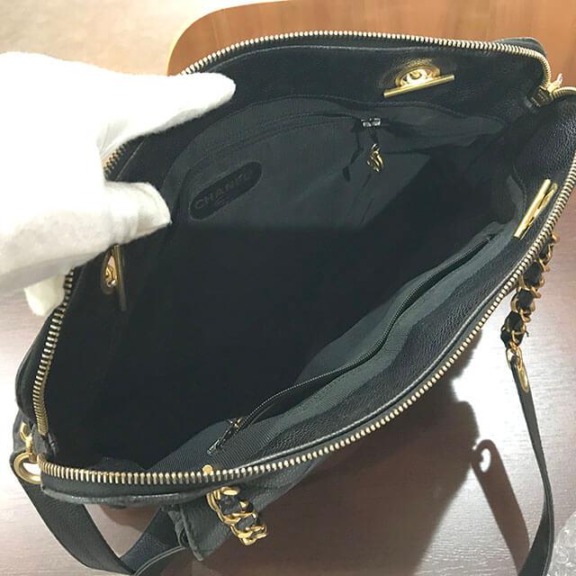 鶴見のお客様からシャネルのキャビアスキンチェーンバッグを買取_03