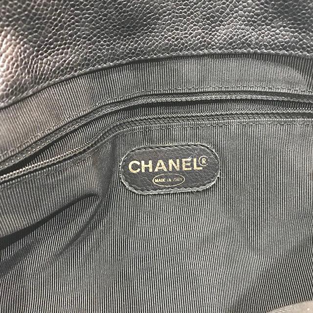 鶴見のお客様からシャネルのキャビアスキンチェーンバッグを買取_04