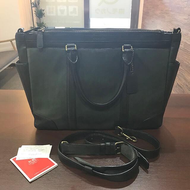 蒲田のお客様からコーチの【ブリーカー メトロポリタン】2wayバッグを買取_02