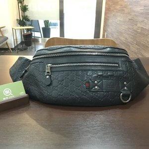 深江橋のお客様からグッチのシマラインのウエストバッグを買取
