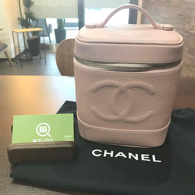 芦屋のお客様からシャネルのピンクの【バニティバッグ】を買取_01