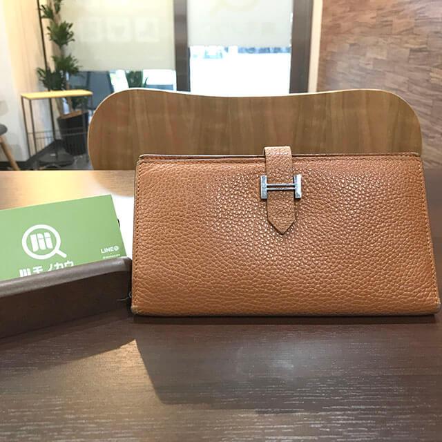 深江橋のお客様からエルメスの長財布【ベアン】を買取_01