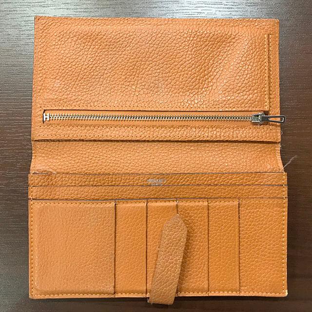 深江橋のお客様からエルメスの長財布【ベアン】を買取_03