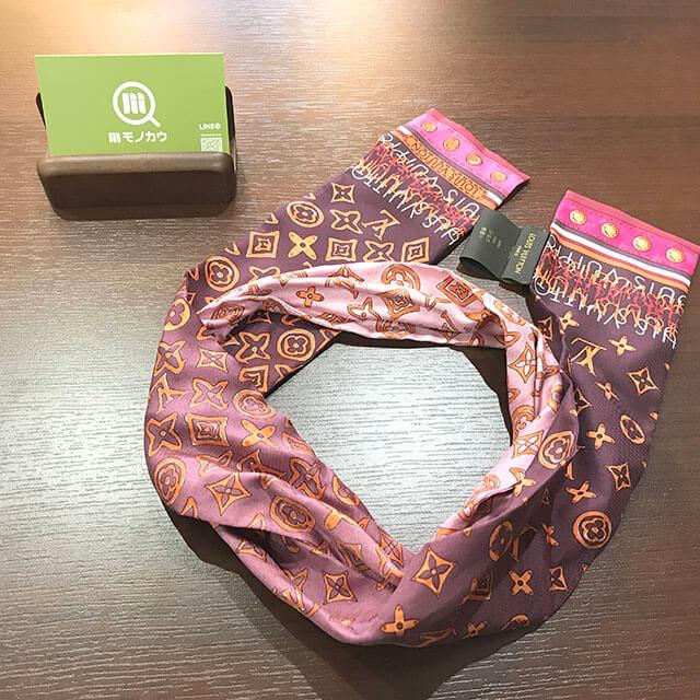 香里園のお客様からヴィトンのスカーフ【バンドー】を買取_02