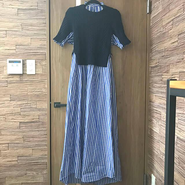 芦屋のお客様からサカイ(sacai)の2018年コレクションのシャツワンピースを買取_01