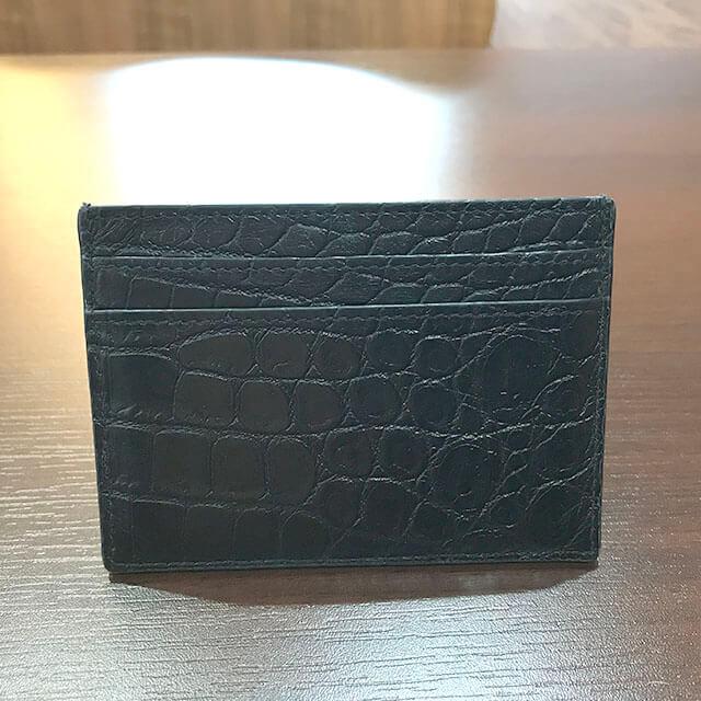 新今宮のお客様からサンローランのカードケースを買取_02