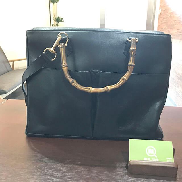 鶴見のお客様からグッチのバンブー2wayバッグを買取_01