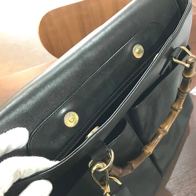 鶴見のお客様からグッチのバンブー2wayバッグを買取_03