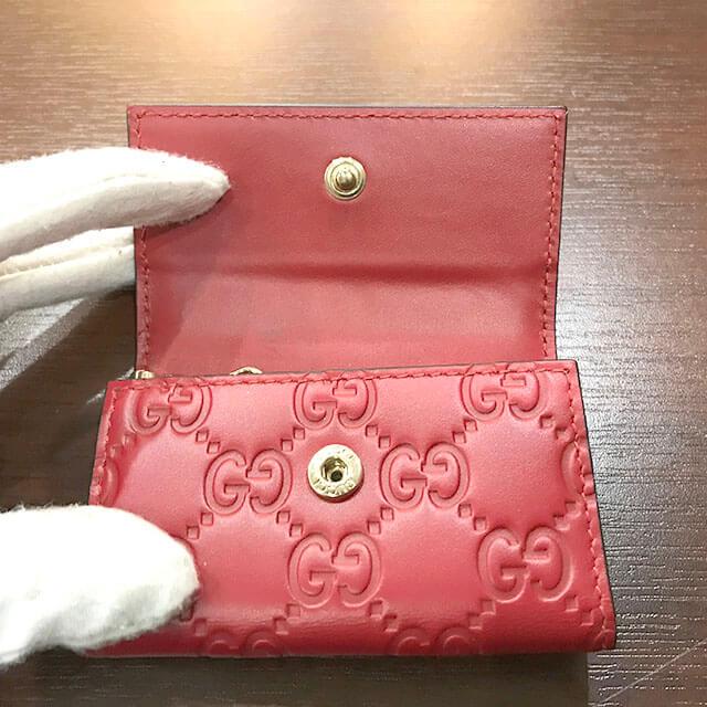 枚方店にてグッチのシマラインのキーケースを買取_04