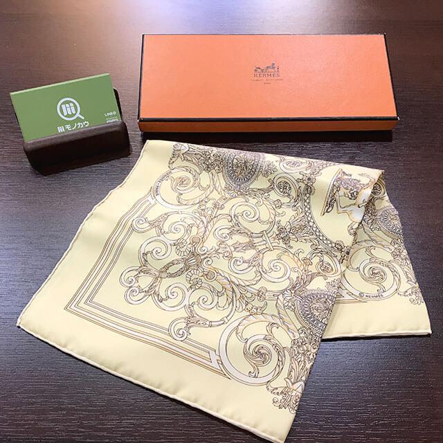 今里のお客様からエルメスのスカーフ「LES TUILERIES/チュルリー公園」を買取_01