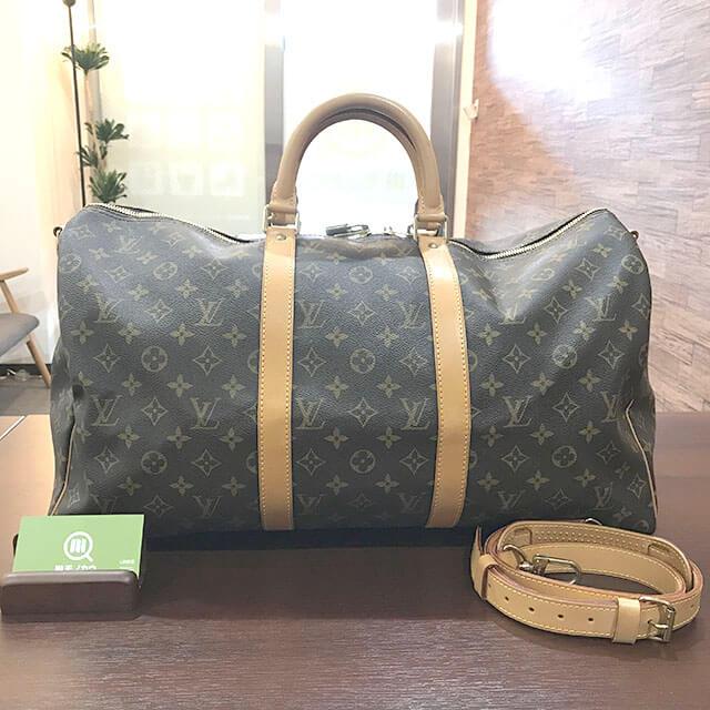 岸和田のお客様からヴィトンのボストンバッグ【キーポルバンドリエール】を買取_01