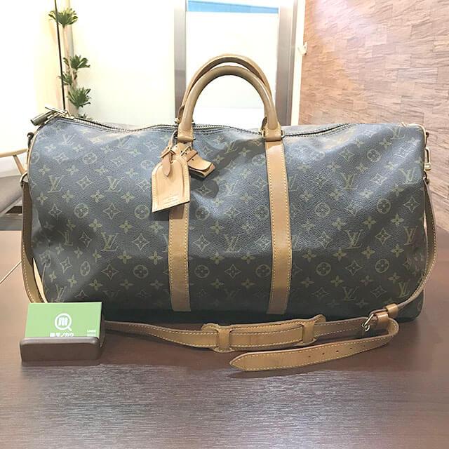 枚方のお客様からヴィトンのボストンバッグ【キーポル・バンドリエール55】を買取_01