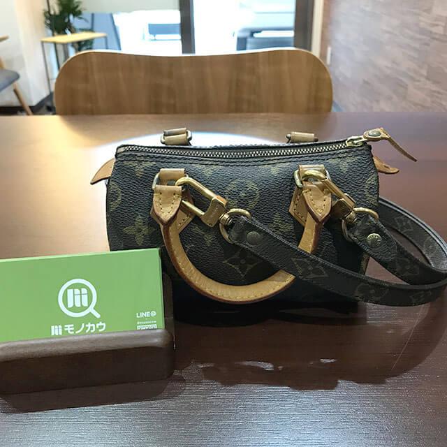 今里のお客様からヴィトンのバッグ【ミニスピーディ】を買取_01