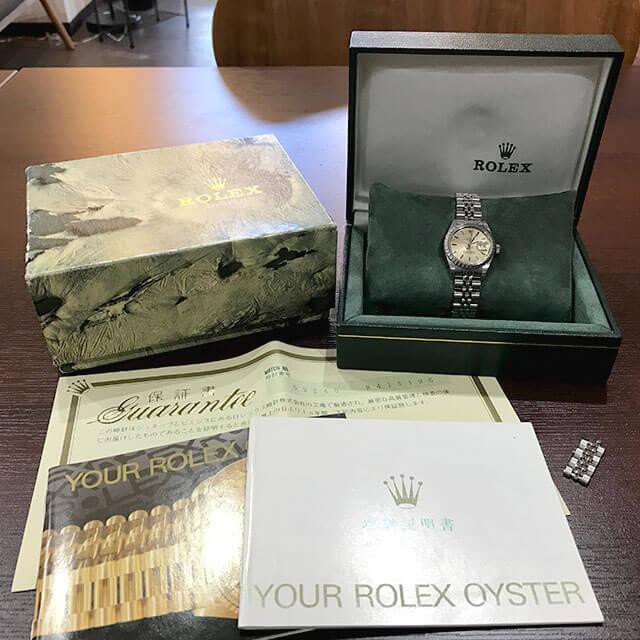 今里のお客様からロレックスの腕時計【オイスターパーペチュアル デイト】を買取_02
