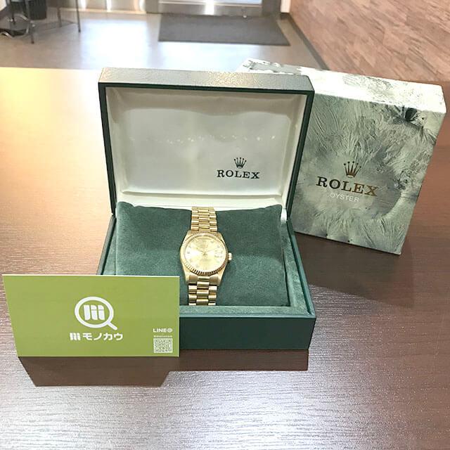 鶴橋のお客様からロレックスの金無垢の【デイトジャスト】を買取_01