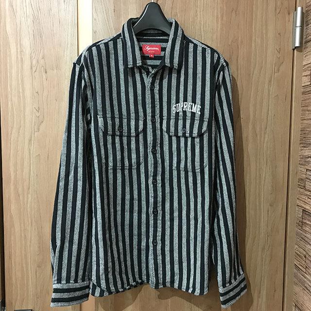 多治見のお客様からシュプリームの【Stripe Heavyweight Flannel Shirt】を買取_01