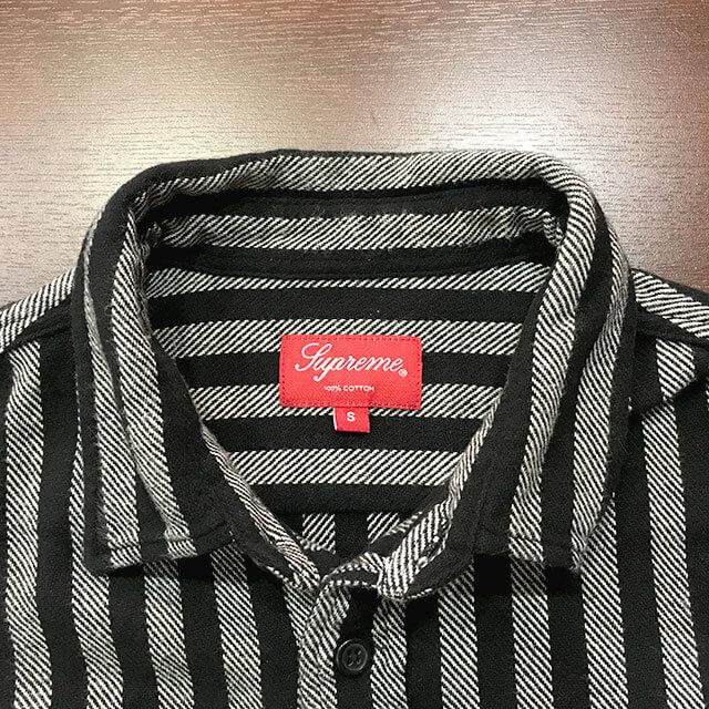 多治見のお客様からシュプリームの【Stripe Heavyweight Flannel Shirt】を買取_03