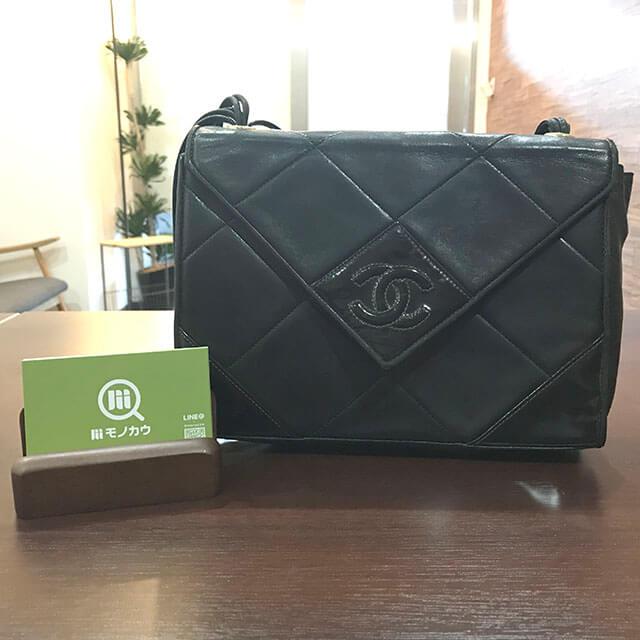 岡山のお客様からシャネルのココマークのショルダーバッグを買取_01